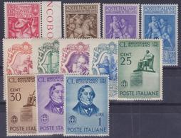 ITALIA 1941-42 / 3 Serie Complete (TITO LIVIO, ROSSINI, GALILEO) MNH** Sassone 458/69 - 1900-44 Victor Emmanuel III