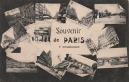 ***  75  *** PARIS Multi Vues - Souvenir De Paris TTB Timbrée - France
