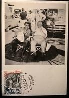 CARTOLINA CARY GRANT E ALFRED HITCHCOCK - Altre Collezioni