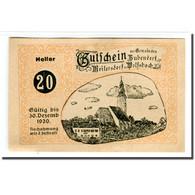 Billet, Autriche, Bubendorf, 20 Heller, Personnage 1, 1920, 1920-04-01, SPL - Autriche
