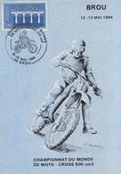 Carte  FRANCE  Championnat  Du  Monde  De  Moto  Cross   500 Cm3   BROU  1984 - Moto