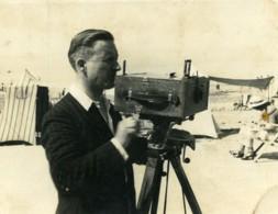 France Photographe Sur La Plage Appareil Photo Ancienne Photo 1921 - Photographs