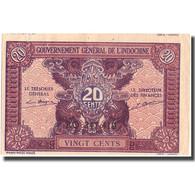 Billet, FRENCH INDO-CHINA, 20 Cents, Undated (1942), KM:90, SPL - Indochine