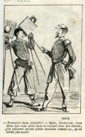 France Nadar & Darjou Caricature Photographe Journal Amusant 1861 - Vieux Papiers