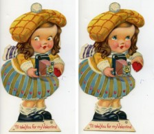USA New York La Petite Photographe Saint Valentin Image à Systeme Chromo 1925 - Vieux Papiers
