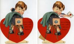 USA New York Le Petit Photographe Saint Valentin Image à Systeme Chromo 1925 - Old Paper