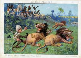 Les Chasses De Toto Photographe En Afrique Lions Chromo Bon Marché 1900 - Other
