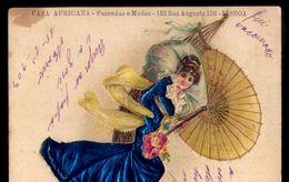 Postal Publicitario CASA AFRICANA Loja De Fazenda E Modas Rua Augusta LISBOA. Old NOVELTY Advertising Postcard PORTUGAL - Lisboa