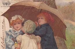 PUBLICITE MARCA IBIS, LA MEJOR SEDA, COSER, POSTCARD ILLUSTRATION ENFANTS CIRCULEE 1895 BUENOS AIRES-RARISIME - BLEUP - Publicité