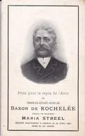 AMPSIN Charles Baron De ROCHELEE époux Maria STREEL 50 Ans 1904 Souvenir Mortuaire DP - Décès