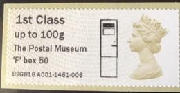GB Post & Go - The Postal Museum F Type Postbox Overprint - 1st Class / 100g - MA14 Date Code MNH - Grande-Bretagne