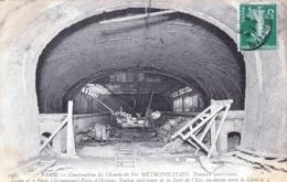 75 - PARIS  - Construction Du Metropolitain - Ligne 4 Porte Clignancourt - Porte D Orleans - Station Gare De L Est - Métro Parisien, Gares