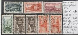 TIMBRES D ALLEMAGNE OBLITEREES   ( SAARGEBIET ) AERIEN   1934    Nr 179-181-183-184 (*) -184 ° -185 *-186  COTE 9. 5  € - Luftpost