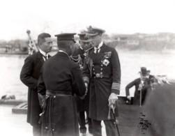 Japon Kagoshima Prince De Galles Et Amiral Togo Ancienne Photo De Presse 1922 - War, Military