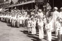 Birmanie Visite Du Prince De Galles Enfants Birmans Ancienne Photo De Presse 1920's - War, Military