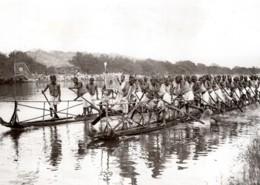 Birmanie Mandalay Visite Du Prince De Galles Course De Pirogues Ancienne Photo 1920's - War, Military