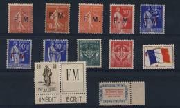 FRANCE  N°   4  à   12 - Franchise Militaire (timbres)