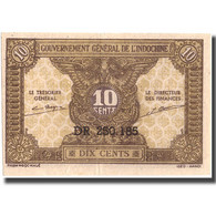 Billet, FRENCH INDO-CHINA, 10 Cents, Undated (1942), KM:89a, TTB+ - Indochine