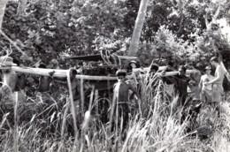Nouvelle Guinee WWII Indigenes & Troupes RAAF Epave D'Avion Ancienne Photo De Presse 1943 - War, Military