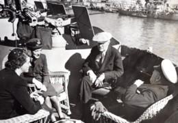Malte President Roosevelt & Premier Ministre Churchill Et Leurs Filles Ancienne Photo De Presse 1945 - War, Military