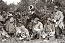 Entrainement Armee Britannique Vallee De La Tamise Howitzer Ancienne Photo De Presse 1939 - War, Military