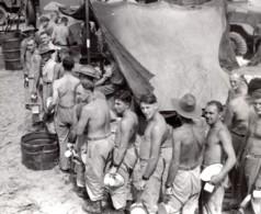 Philippines WWII Ile De Leyte Troupes Australiennes RAAF Ancienne Photo De Presse 1944 - War, Military