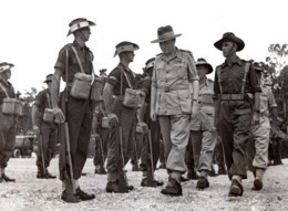 Papouasie Nouvelle Guinee Lord Wakehurst Gardes D'Honneur Ancienne Photo 1945 - War, Military