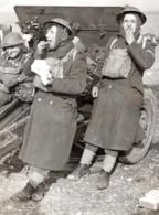 Angleterre WWII Entrainement De L'Artillerie Artilleurs Ancienne Photo De Presse 1940 - War, Military