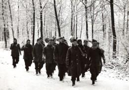 WWII Front De L'Ouest Soldats Anglais Scene D'Hiver Ancienne Photo De Presse 1940 - War, Military