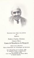LAMONTZEE Robert Comte De BROUCHOVEN De BERGEYCK 1905-1978 époux De VILLENFAGNE Souvenir Mortuaire DP - Décès