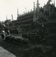 Italie Lac Majeur Isola Bella Jardins Ancienne Photo Stereo Possemiers 1900 - Photos Stéréoscopiques