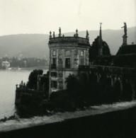 Italie Lac Majeur Isola Bella Pavillon Ancienne Photo Stereo Possemiers 1900 - Photos Stéréoscopiques