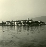 Italie Lac Majeur Ile Des Pêcheurs Ancienne Photo Stereo Possemiers 1900 - Photos Stéréoscopiques