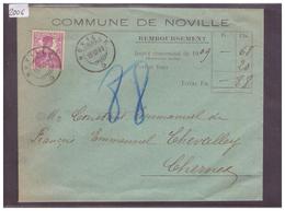 LETTRE AVEC No ZUMSTEIN 122 - COMMUNE DE NOVILLE - Suisse
