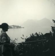 Italie Lac Majeur Isola Madre Laveno Ancienne Photo Stereo Possemiers 1900 - Stereoscopic