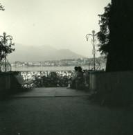 Italie Lac Majeur Isola Madre Vue Sur Pallanza Ancienne Photo Stereo Possemiers 1900 - Photos Stéréoscopiques