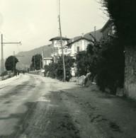 Italie Lac Majeur Pallanza Route De Suna Ancienne Photo Stereo Possemiers 1900 - Stereoscopic