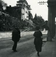 Italie Lac Majeur Pallanza Castagnola Villa Rovelli Ancienne Photo Stereo Possemiers 1900 - Stereoscopic