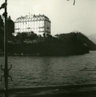 Italie Lac Majeur Pallanza Punta Castagnola Ancienne Photo Stereo Possemiers 1900 - Photos Stéréoscopiques