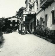 Italie Lac Majeur Pallanza Eden Hotel Ancienne Photo Stereo Possemiers 1900 - Photos Stéréoscopiques