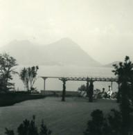 Italie Lac Majeur Pallanza Eden Hotel Laveno Ancienne Photo Stereo Possemiers 1900 - Photos Stéréoscopiques