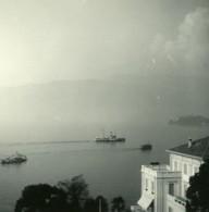Italie Lac Majeur Pallanza Eden Hotel Vue Sur Stresa Ancienne Photo Stereo Possemiers 1900 - Photos Stéréoscopiques