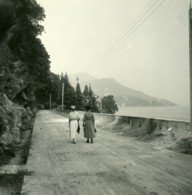Italie Lac Majeur Pallanza Route D'Intra Ancienne Photo Stereo Possemiers 1900 - Stereoscopic