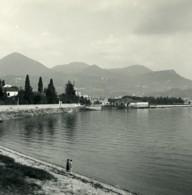 Italie Lac Majeur Intra Ancienne Photo Stereo Possemiers 1900 - Photos Stéréoscopiques