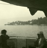 Italie Lac Majeur Punta Castagnola Ancienne Photo Stereo Possemiers 1900 - Stereoscopic