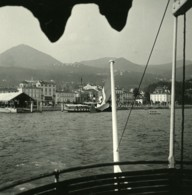 Italie Lac Majeur Intra Les Quais Ancienne Photo Stereo Possemiers 1900 - Stereoscopic
