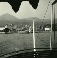 Italie Lac Majeur Intra Les Quais Ancienne Photo Stereo Possemiers 1900 - Photos Stéréoscopiques