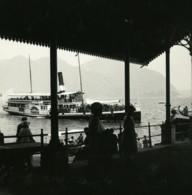 Italie Lac Majeur Intra Bateau Roues A Aubes Francia Ancienne Photo Stereo Possemiers 1900 - Photos Stéréoscopiques