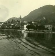 Italie Lac Majeur Laveno Ancienne Photo Stereo Possemiers 1900 - Stereoscopic