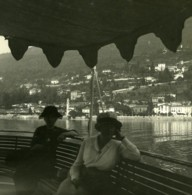 Italie Lac Majeur Ghiffa Ancienne Photo Stereo Possemiers 1900 - Stereoscopic